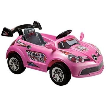 Elektro Kinderauto A088 mit Fernbedienung 6 V, bis 30 kg (Rosa) - 1