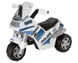 Peg Perego ED0910 - Elektro-Motorrad Raider 6V Polizei weiß/blau -