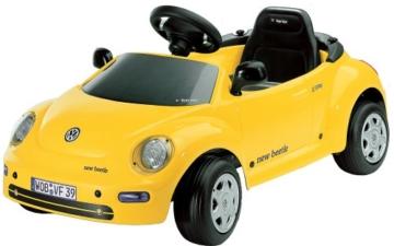 VW New Beatle, gelb Elektroantrieb 6 Volt - 1