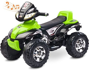 Caretero Cuatro Quad Elektroquad Elektrofahrzeug Kinderfahrzeug Akkubetrieben, Farbe:Green - 1