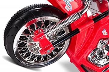 Caretero Toyz Rebel Rot Elektro Motorrad Kindermotorrad Kinderfahrzeug -