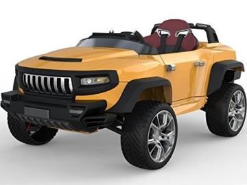 HENES Broon T870 Luxus RC Batteriebetrieben 4 rad Antrieb Rutscher Auto mit Abtrennbarer Tablet - Orange -