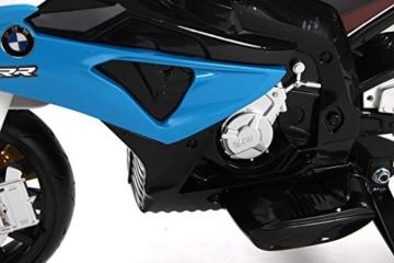 Kinder-Elektro Motorrad BMW S 1000 RR Blau mit Reifen aus EVA -