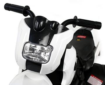 Kinder Elektro Polizei Motorrad Fahrzeug Kindermotorrad Akku Elektromotorrad Schwarz-Weiss -