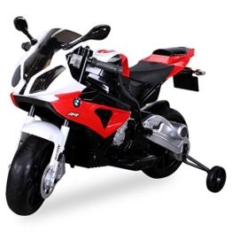 Kinder Elektromotorrad Kindermotorrad Lizenziert BMW S 1000 RR Elektro Kinderfahrzeug (rot) -