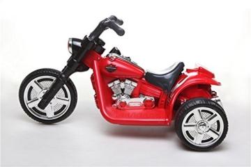 Kinderfahrzeug - Elektro Motorrad- Chopper - 2 Motoren - 6V7Ah (Rot) -