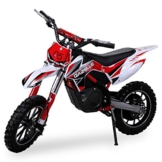 NEU Kinder Mini Crossbike Gazelle ELEKTRO 500 WATT inklusive verstärkter Gabel Dirt Bike Dirtbike Pocket Cross rot -