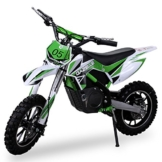 NEU Kinder Mini Crossbike Gazelle ELEKTRO 500 WATT inklusive verstärkter Gabel Dirt Bike Dirtbike Pocket Cross grün -