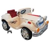 Elektroauto Oldtimer King 125x65x85cm Beige - 1