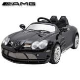 "Kinderfahrzeug – Elektro Auto ""Mercedes SLR McLaren"" – lizenziert – 12V7AH Akku,2 Motoren- 2,4Ghz Fernsteuerung, MP3- schwarz - 1"